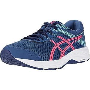 ASICS Women's Gel-Contend 6 Running Shoes, 7, Grand Shark/Pink GLO
