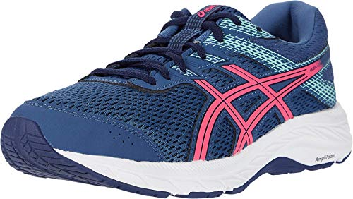ASICS Women's Gel-Contend 6 (D) Running Shoes, 8.5W, Grand Shark/Pink GLO