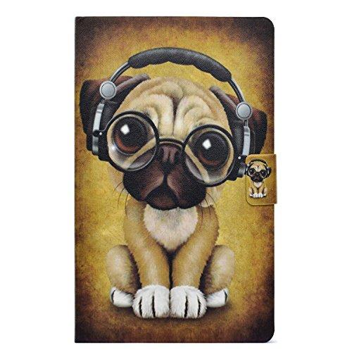CaseFun Samsung Galaxy Tab A6 T580 Hülle, Slim PU Leder Tasche Cover Schutzhülle Schale Etui für Samsung Galaxy Tab A 10,1 Zoll T580 / T585 Tablet mit Auto Aufwachen/Schlaf Stand Funktion Hund