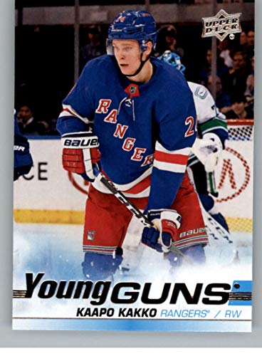 2019-20 Upper Deck Hockey #499 Kaapo Kakko RC Rookie Card New York Rangers Young Guns Official Series Two Trading Card From UD