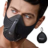 GO4FIT Workout MASK | Simulate High Altitudes | for Breathing, Running, Cardio, Fitness | Resistance Training Endurance MASK | Gym MASK (Universal Size - Black)