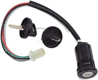 4 Wires Ignition Switch Key with Cap for 50cc 70cc 90cc 110cc 150cc 200cc 250cc TaoTao SUNL Chinese ATV 125cc Apollo Dirt Bike Scooter Parts