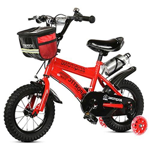 sheng Kinder Fahrrad Jungen Mädchen Kinderwagen Kinder Mountainbike (Multi-Size optional) (Farbe: Pink, Größe: 16 Zoll) ( Farbe : Rot , größe : 18inch )