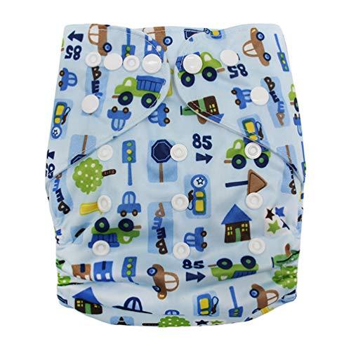Byqny Newborn Windeln Cartoon Pattern,Verdeckte Schnallenverstellung Süß Schwimmwindel Badeshorts Badehose Windeln zum Waschen Windel Trainingshose 32 3-15kg