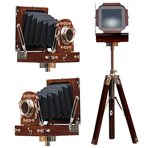 Vintage Royal Wooden Film Slide Old Retro Camera Home Decorative Gift 9'x9'x24' Brown
