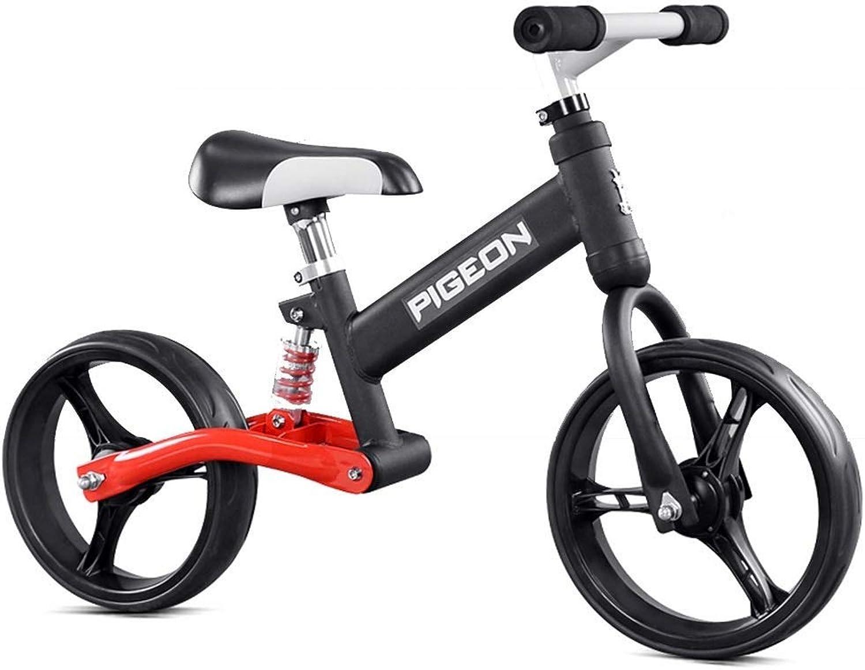 Sport Balance Bike für Kinder im Alter von 2-6 Jahren, Push Bike für Mdchen - Easy Assembly Balance Fahrrad, Kinder, Laufrad, Keine Pedale, schwarz rot ZHAOFENGMING