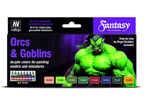 Vallejo Game Color Special Set 72304 Orcs & Goblins (8) by Angel Giraldez
