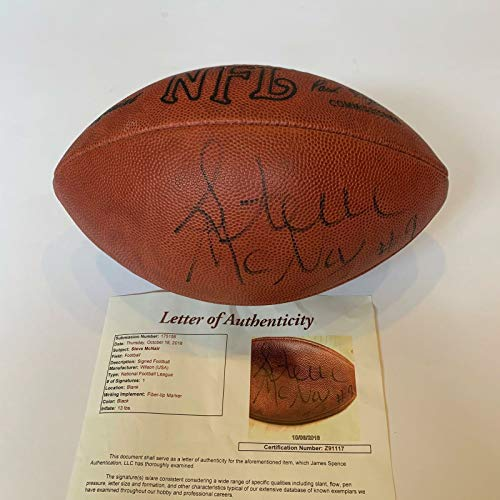 RARE Steve McNair Signed Autographed Wilson NFL Game Football With JSA COA