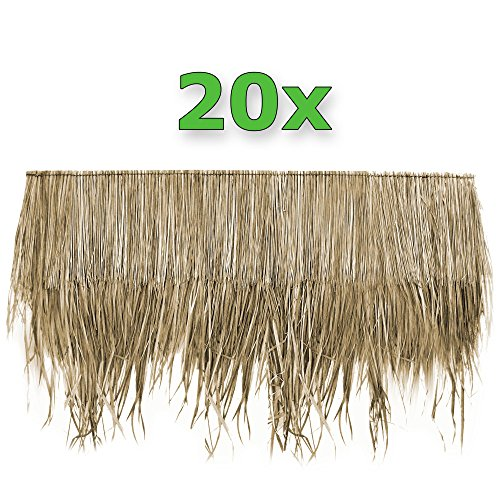 Wilai Palmendächer Palmdach Paneele Palmschindel Palmenblätter 145 cm (20)