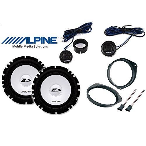 Kit 4altavoces para Fiat Grande Punto Calidad con adaptadores y soportes altavoces Alpine autocarabanas-DWT delantero