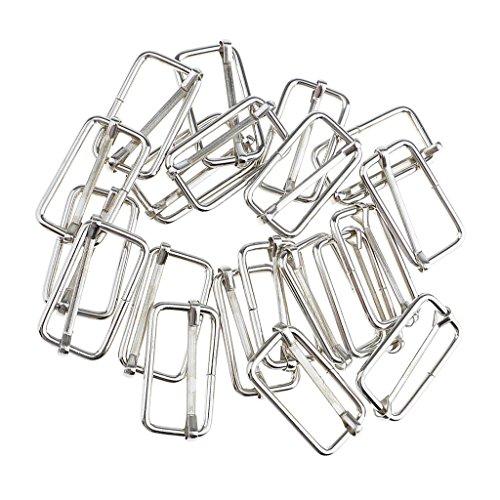 MagiDeal Lot de 20 Pcs Connecteur en Boucle Carrée Accessoire De Bricolage pour Sac à Main DIY Artisant - argenté#3, 32x16x2.8mm