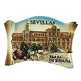 Sevilla España Europa Ciudad Mundial resina 3d fuerte imán nevera recuerdo turístico regalo chino hecho a mano creativo hogar y cocina decoración magnética etiqueta (Style2)