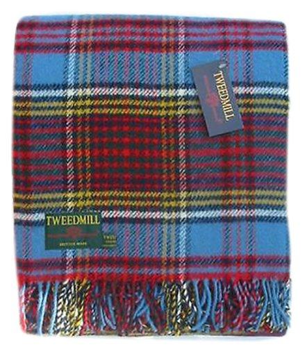 Tweedmill Anderson Couverture en laine pure Motif tartan Fabriqué au Royaume-Uni