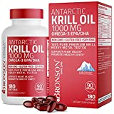 Bronson Antarctic Krill Oil 1000 mg with Omega-3s EPA