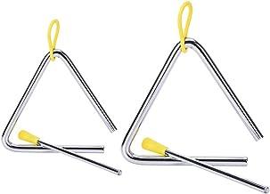 Noblik - Juego de 2 instrumentos musicales (aleación triangular, con tiras)