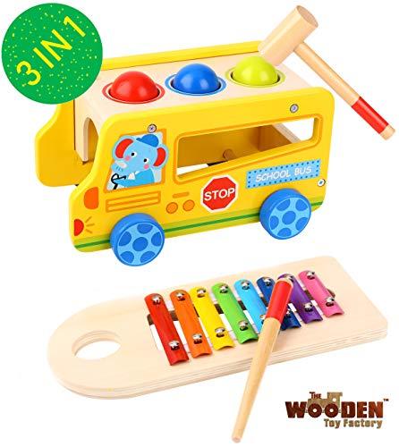 The Wooden Toy Factory - Banco con Martillo con Xilófono