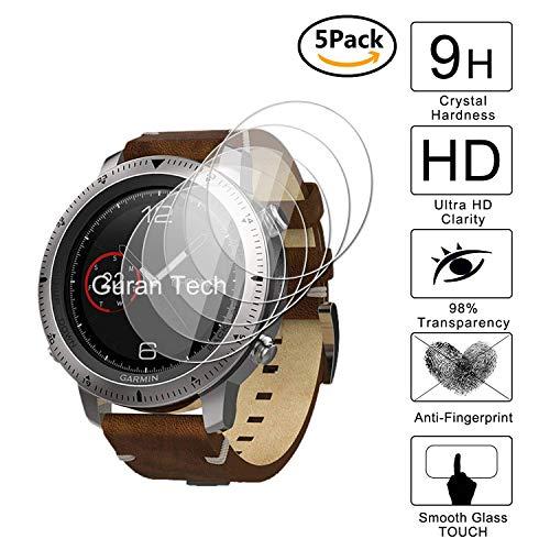 Guran [5 Stück] Displayschutz Glasfolie für Garmin Fenix Chronos Smartwatch Hartglas Schutzfolie Film 3D Touch Kompatibel Panzerglasfolie