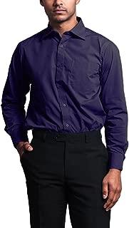 Men's Regular Fit Long Sleeve French Convertible Cuff Dress Shirt