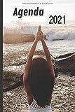 Agenda: Zen Bien être Bonheur Spirituel Bouddha Méditation Chakra Pensée Positive Yoga | Semainier A6 Hebdomadaire en Français Petit Format de Poche