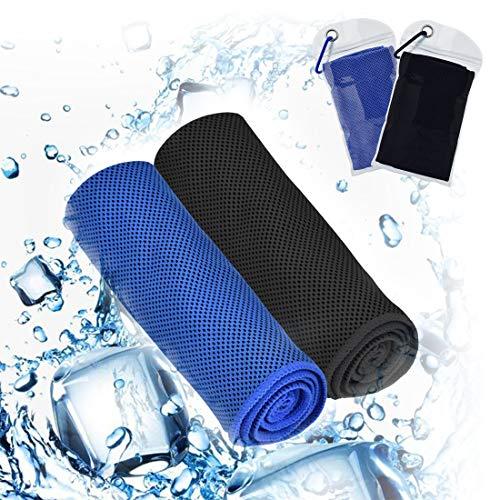 U-picks Toalla de enfriamiento para alivio de enfriamiento instantáneo, toalla fresca 100% microfibra, toalla de hielo suave transpirable para yoga, camping, deportes, gimnasio