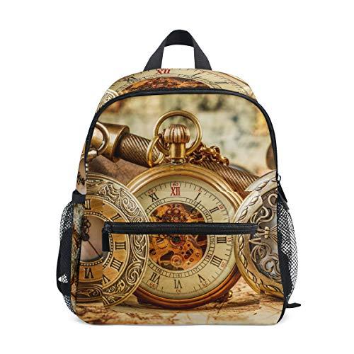 Mochila artística Mochila de Reloj mecánico Antiguo guardería de Viajes Escolares para niñas Adolescentes Varones