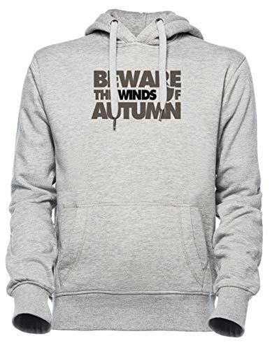 Luxogo Beware The Winds of Autumn Unisexe Gris Sweat À Capuche Homme Femme Unisex Grey Jumper Men's Women's