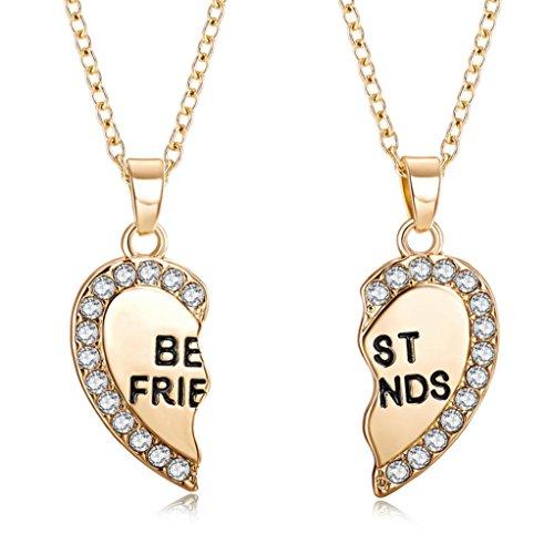 Cadena de corazón dorado cadena corazón remolque de San Valentín regalo para usted amiga