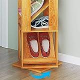 JUNYYANG Rack de Zapatos Zapatero Simple Multi- Capa a Prueba de Polvo Multiusos del Zapato Gabinete Económico Simple Moderna rotativa de Almacenamiento en Rack