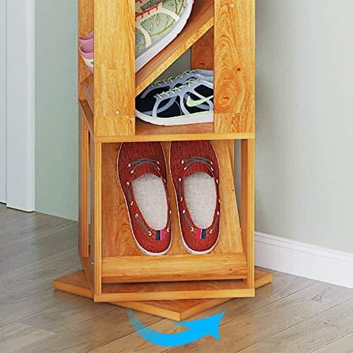 XUSHEN-HU Zapatero simple multi-capa a prueba de polvo multiusos gabinete de zapatos económico moderno simple estante de almacenamiento giratorio