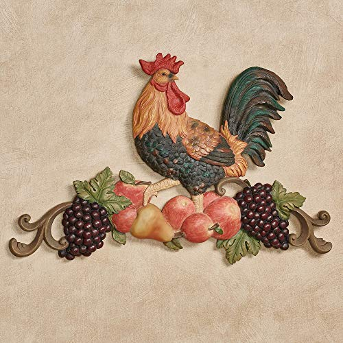 Touch of Class Tuscany Rooster Wall Plaque Multi Jewel