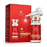 Face Serum Six Peptides Repair Concentrate Rejuvenation Anti-aging Essence Anti Wrinkle, Eye Bags, Crow's Feet, Nasolabial Folds, Glycerol, Snail, Botulinum Toxin Composition, Smooth Wrinkles (5 pcs)