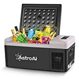 AstroAI Portable Freezer 12 Volt Car Refrigerator 16 Quart(15 Liter) Fridge for Car, RV, Van, Vehicle, Boat, Portable Freezer (-4℉~68℉) for Camping, Travel, Fishing Outdoor — 12/24V DC and 100/240V AC