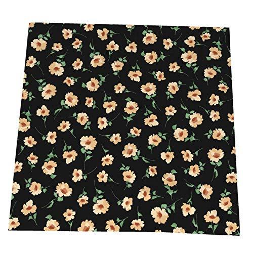 Ye Hua Schöne kleine Blumen und Pflanzen Tischsets Polyester waschbare Tischsets für Küche/Esstisch Bauernhaus Tischdekoration 6er Set