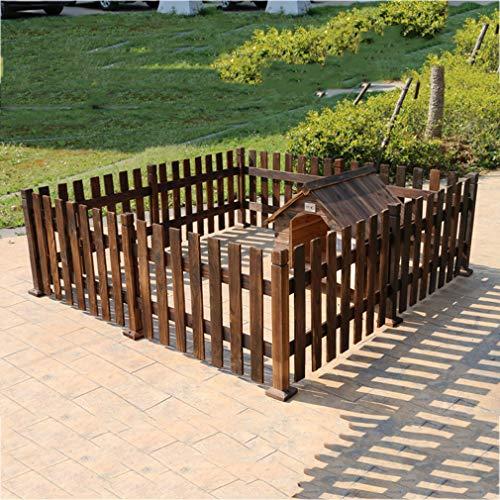 Clôture pour animaux de Compagnie, clôture de Chien en Bois de Charbon de Bois clôture de de Compagnie Grande/Moyenne et Petite clôture de Chien
