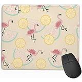 Zitrone Wassermelone Flamingo Gaming Mauspad, Mousepad Gaming Mauspad