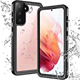Temdan Waterproof Samsung Galaxy S21 Case,Clear Sound Quality Built in Screen Protector Full Body Heavy Duty Shockproof IP68 Waterproof Case for Samsung S21 6.2 inch (2021)