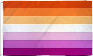 Lesbian Pride Flag - Orange and Magenta - Large 5x3FT - Sleeve and Metal Grommets