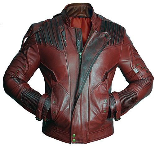 Premium Leather Garments Star Lord Guardians Of Galaxy 2 Chris Pratt Real Leather Jacket (XL - Suitable For Chest Size 42')