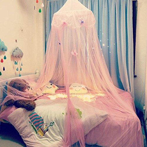 Betthimmel für Kinder Baby Baldachin Spielzimmer, Fantasie Schmetterlings Prinzessin Wind, hängendes Zelt der Hauben-Moskito, Erstherzschlafzimmer