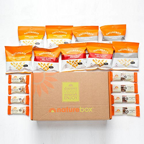 NatureBox Healthy Snacks Care Package - Non-GMO, Made Without Gluten,...