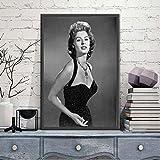brandless Heiße Sophia Loren Poster Schwarz Weiß