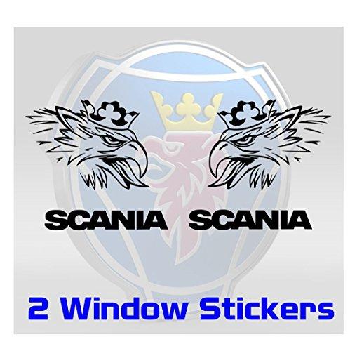 SCANIA Fensteraufkleber - LKW Scheibe Glas Windschutzscheibe Cab Griffin