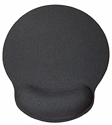 Silent Monsters Ergonomic Comfort Mouse Mat with Gel Wrist Rest, Black Gel Mousepad, Office and Gaming Mousemat with Hand Support