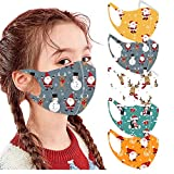 5PC Kids Halloween/Christmas Reusable Mask Costumes Party Cute Face Covering