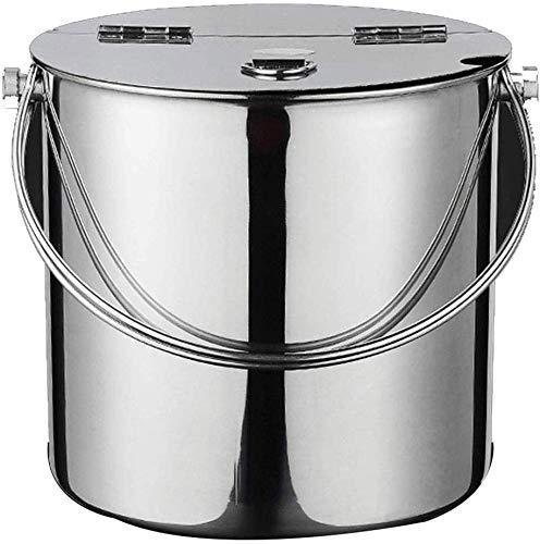 OYYO Premium-EIS-Wanne, 4,8 Liter - Elegantes Silber - Doppelschalig isolierter Edelstahl - mit Griff und Deckel - ideal for BBQs, Cocktail Partys, Geburtstage und Jubiläen