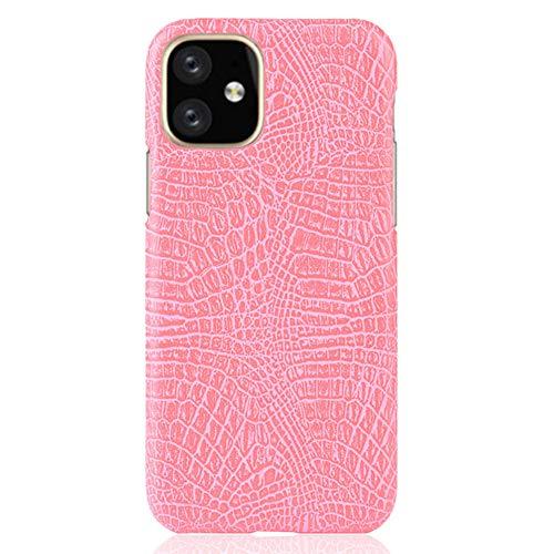 YMJJ Ultra Slim Fall für für Iphone11 / Pro/Pro Max, klassischen Krokodil-Haut-Muster PU-Leder Anti-Scratch-PC schützende Harte Fall-Abdeckung,Rot,for iphone11 pro