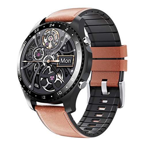 APCHY Reloj Inteligente Smartwatch GPS para Hombres,30 Llamadas Bluetooth,Seguidores De Actividades De Frecuencia Cardíaca,Presión Arterial, Pulsera Inteligente Deportiva, Medición De Temperatura,B