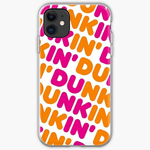 hotrilicoc Compatible con iPhone 12/12 Pro MAX 12 Mini 11 Pro MAX SE X/XS MAX XR 8 7 6 6s Plus Funda Iced DD Donuts Coffee Dunkin TPU Cajas del Teléfono Cover
