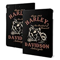 One Size ケース Harley-Davidson ハーレーダビッドソン 薄型 軽量 傷防止 二つ折りスタンド スマートケース Apple iPad オートウェイクアップ/スリープ機能
