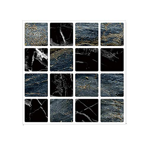 GHHHG - Pegatinas para azulejos de mosaico, autoadhesivas, rollo de película de vinilo para baño, pared, puerta, impermeable, 10 x 10 cm